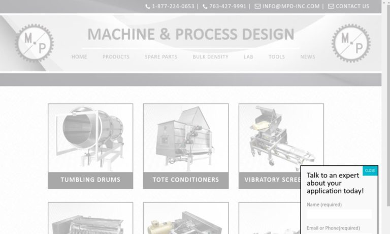 Machine and Process Design, Inc.